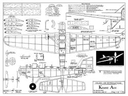 Keane Ace model airplane plan