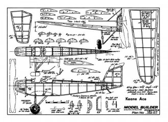 Keane Ace model airplane plan