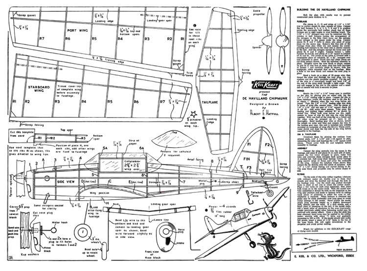 Keil Kraft Chipmunk model airplane plan