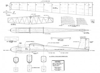 Kestrel-MAN-09-68 model airplane plan