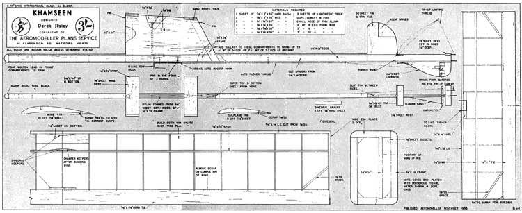 Khamseen model airplane plan