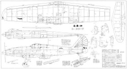 Ki-61 model airplane plan