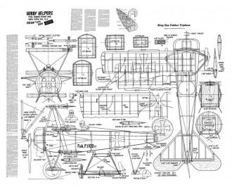 King Size FokkerTriplane model airplane plan