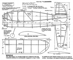 King Harry 24in model airplane plan
