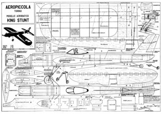 King Stunt model airplane plan
