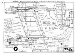 King Sweep model airplane plan