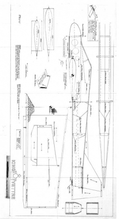 King Vettre model airplane plan