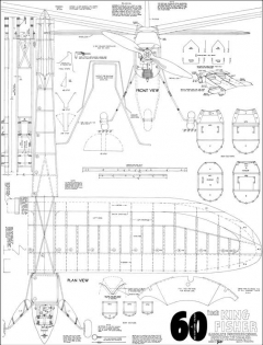 Kingfisher 60in model airplane plan