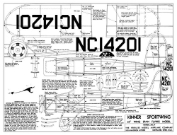 Kinner Sportwing model airplane plan