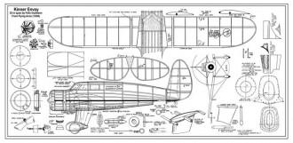 Kinner Envoy 22in model airplane plan