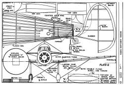Kinner Envoy p3 model airplane plan