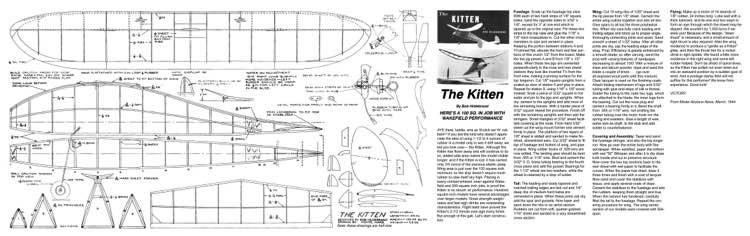 Kitten model airplane plan
