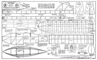 Kittiwake 2 model airplane plan