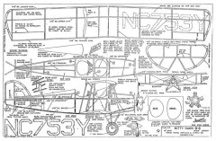 Kitty Hawk B-8 model airplane plan
