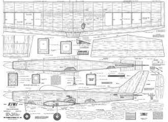 Kiwi 54in model airplane plan