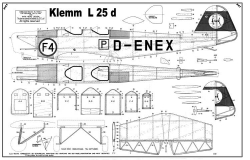 Klemm L 25D model airplane plan