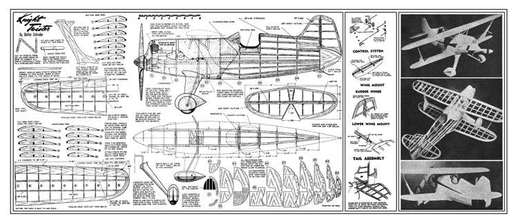 Knight Twister model airplane plan