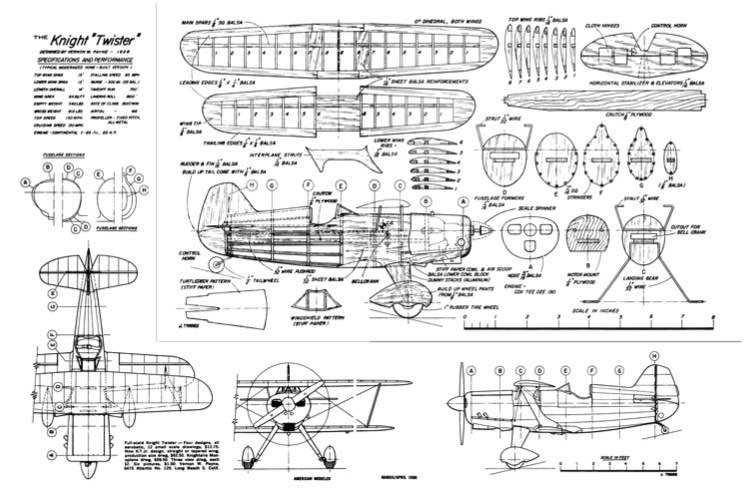KnightTwister model airplane plan