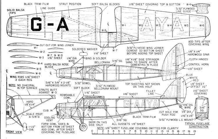 Kochman LeopardMothDH85 model airplane plan