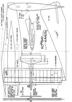 Kombat Kapers model airplane plan