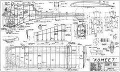 Komeet model airplane plan