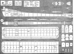 Komet model airplane plan