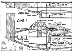 Koolhoven p1 model airplane plan