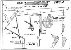 Koolhoven p4 model airplane plan