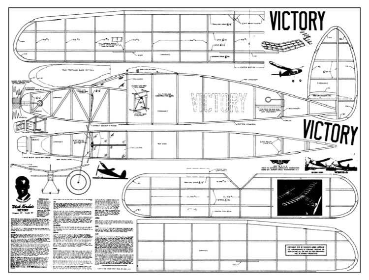 Korda Victory 32in model airplane plan