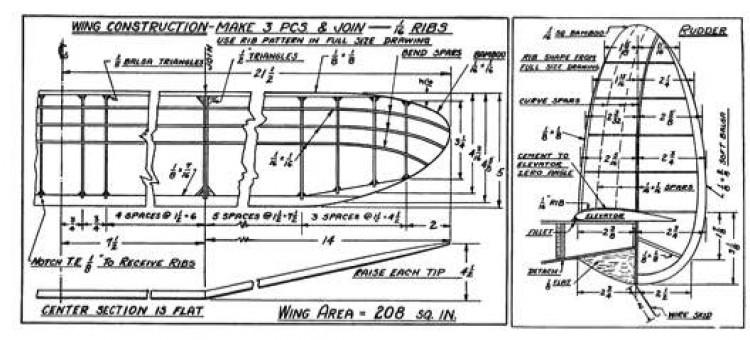 Korda p1 model airplane plan