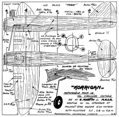 Korrigan 12in model airplane plan