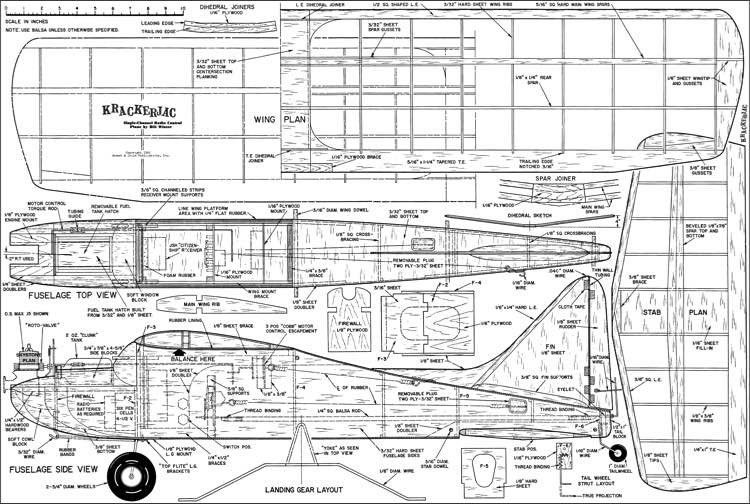 Krackerjac 52in model airplane plan