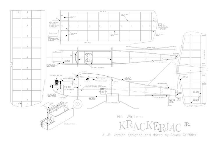 Krackerjack 32 model airplane plan
