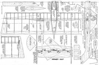 Krazy Kat model airplane plan