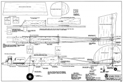 Kwik Stick I and III model airplane plan