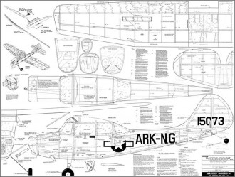 L-19 Berkeley 62in model airplane plan