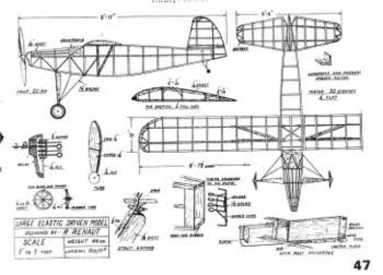 LEDM 1939 model airplane plan