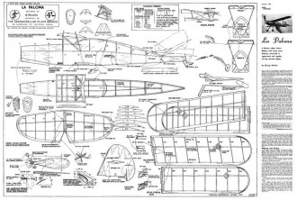 LaPaloma model airplane plan