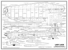 Lady Luck model airplane plan