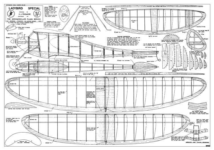 Ladybird Special model airplane plan