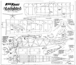 Ladybird KK fixed model airplane plan