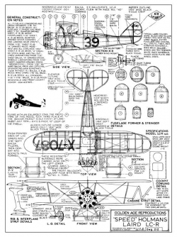 Laird LC-R model airplane plan