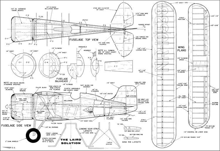 Laird Solution CL 21in model airplane plan