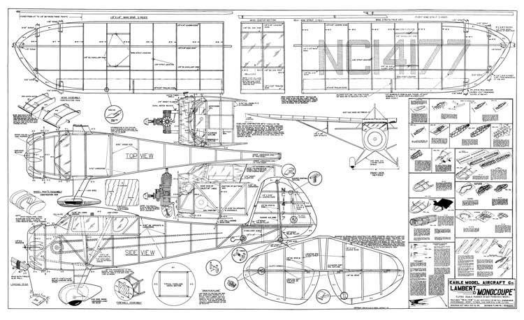 Lambert Monocoupe 40in model airplane plan