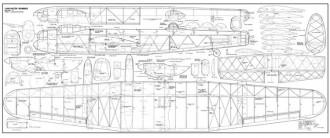 Lancaster Bomber 74 model airplane plan