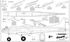 Lancer 54in model airplane plan