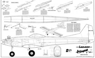 Lancer model airplane plan