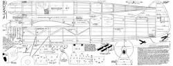 Lancer 72in model airplane plan