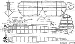 Lanzo Bomber redrawn 1980 model airplane plan