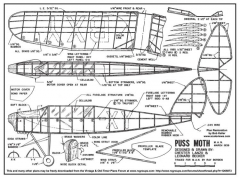 Lanzo Puss Moth 2 model airplane plan